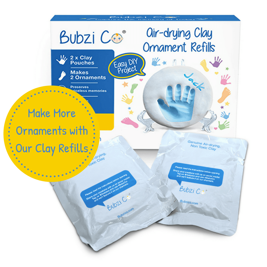 Bubzi Co Baby Handprint & Footprint Clay Ornament Keepsake Kit Keepsake Bubzi Co