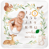 Bubzi Co Baby Woodland Monthly Milestone Blanket Keepsake Bubzi Co