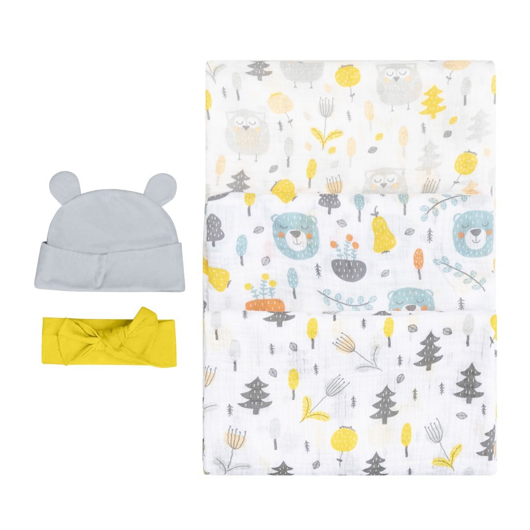 Bubzi Co Newborn Swaddle Set - Woodland Nursery Swaddles Bubzi Co