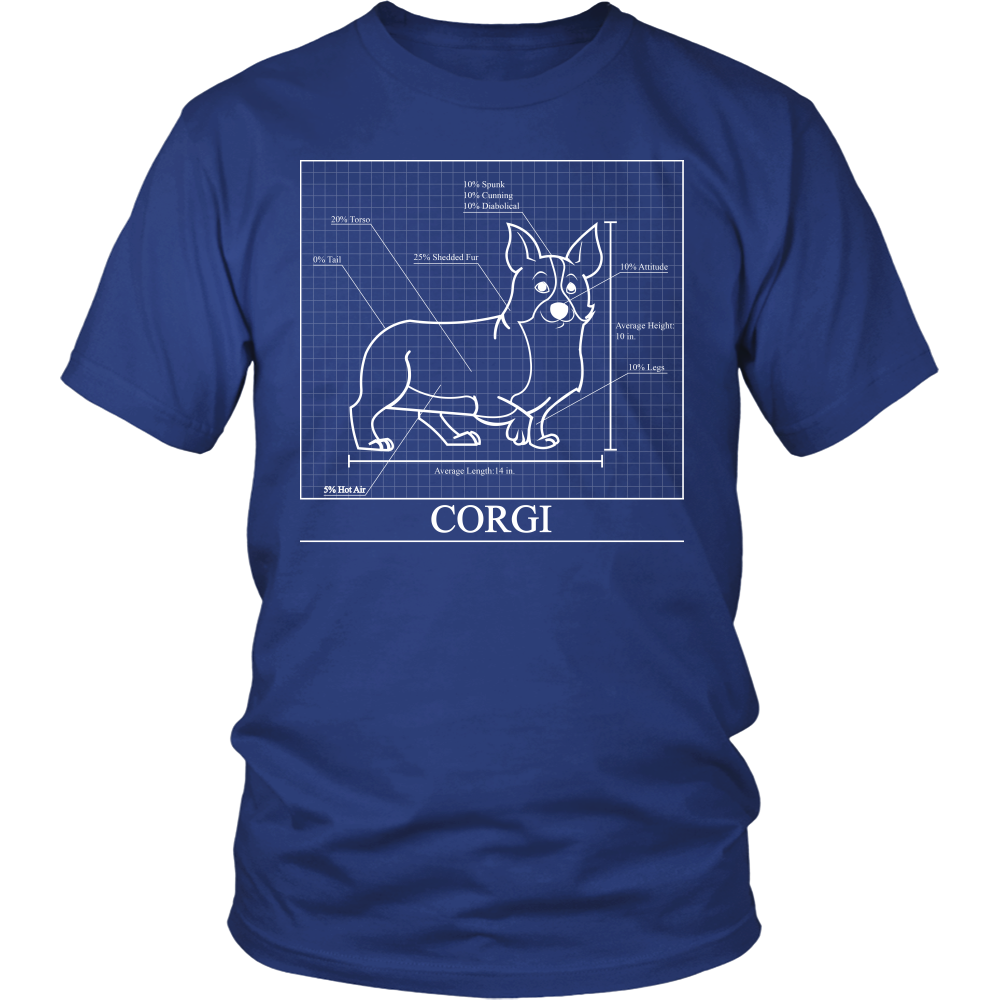 8628953b51e3 Corgi Blueprint T-Shirt