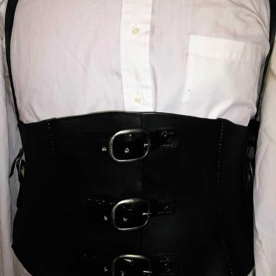 Male Brace Steampunk Corset/Back Brace
