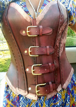 Customer made leather corsets.