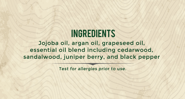 Northern Fir Beard Oil Ingredients
