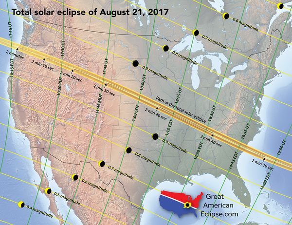Path of 2017 Total Solar Eclipse