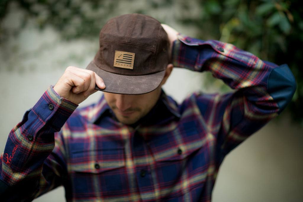 pladra 5 panel brown hat
