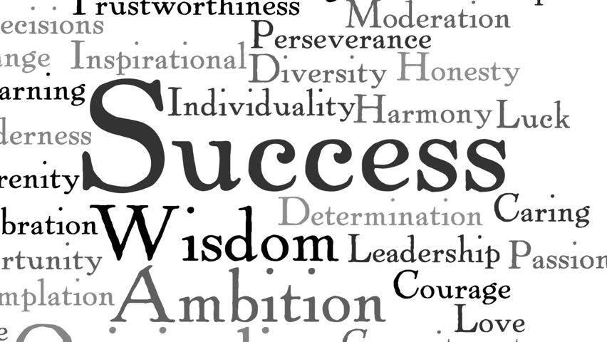 Success Wisdom Ambition Courage
