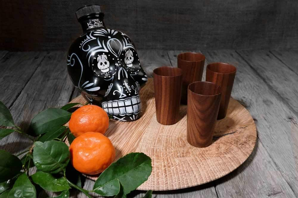 Sake Tequila Wooden Cup Set