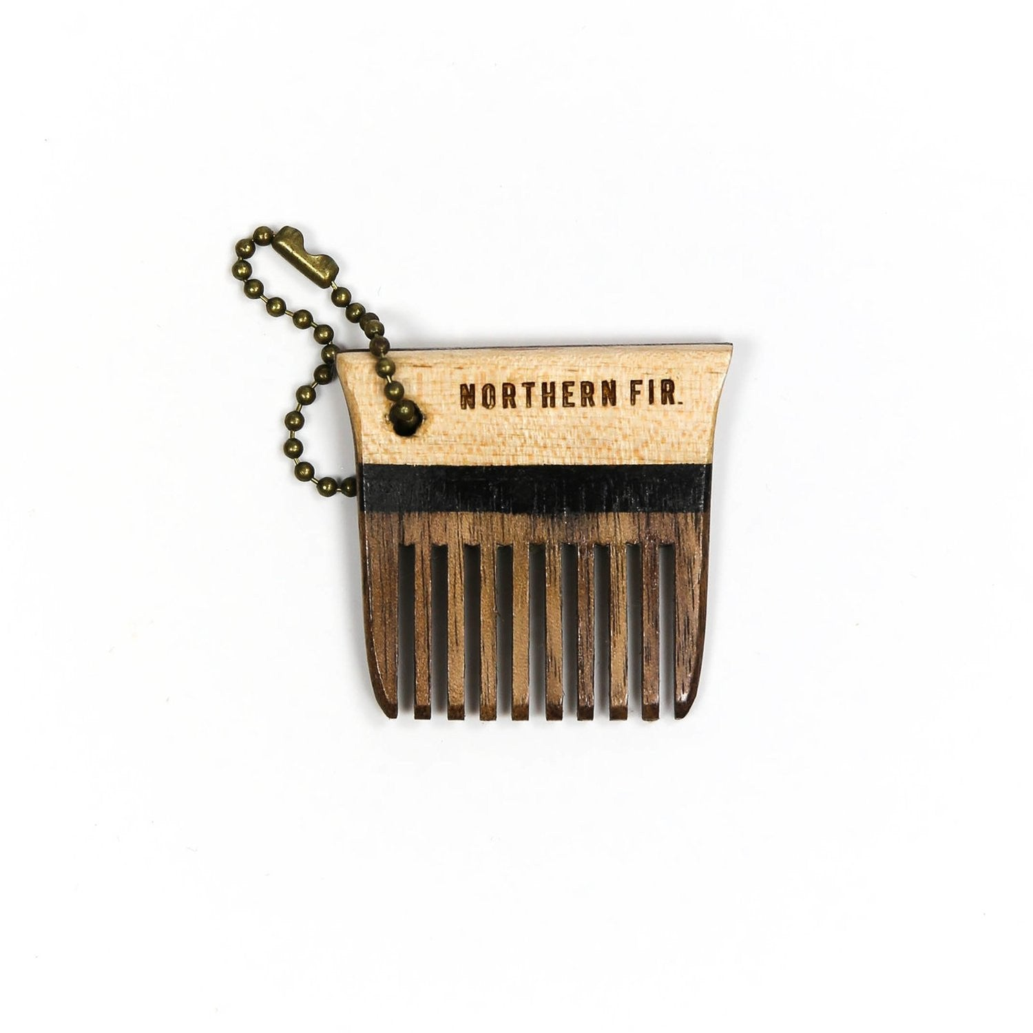 Maple and Walnut Keychain Comb