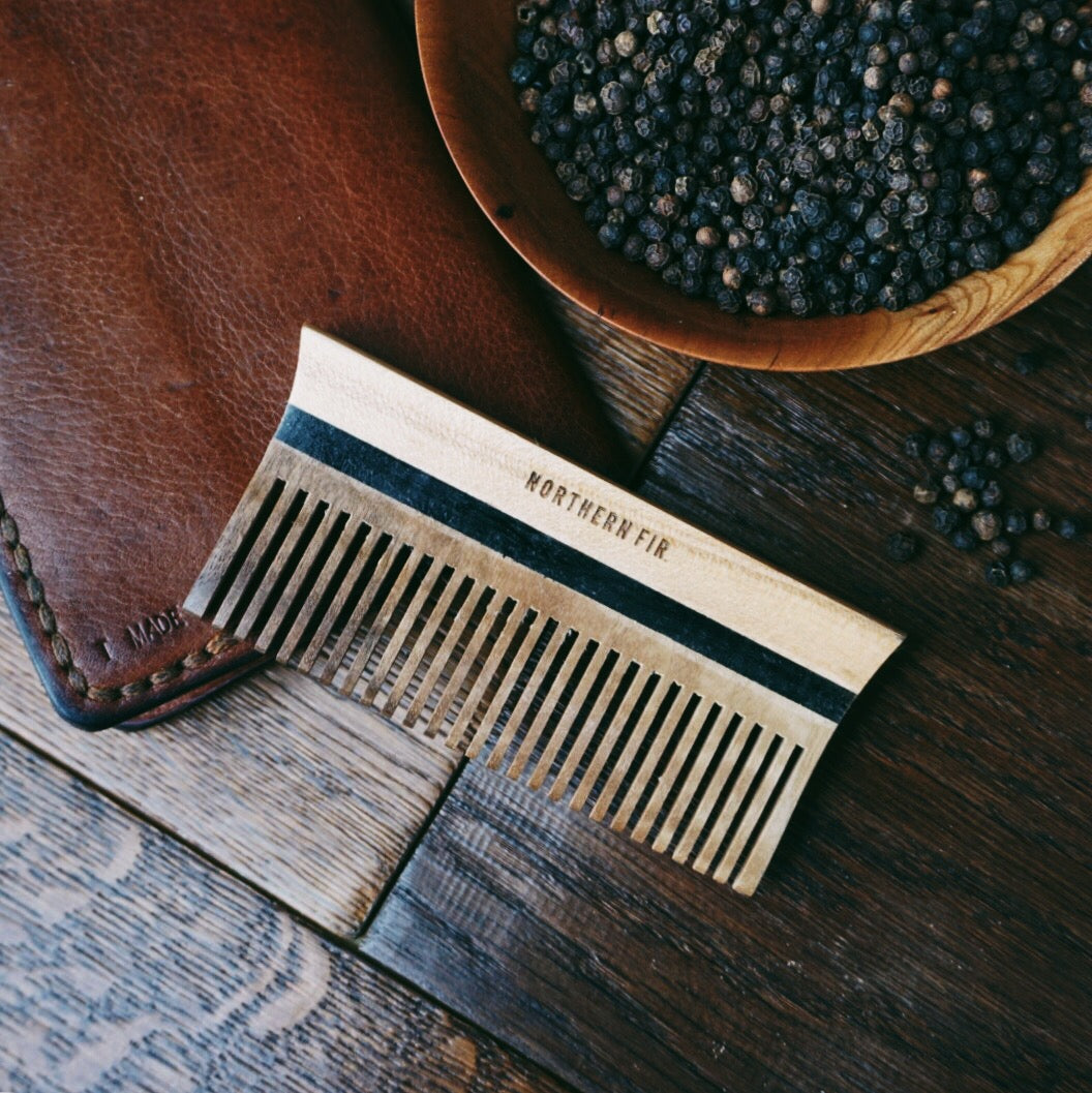 Maple and Walnut Pocket Comb