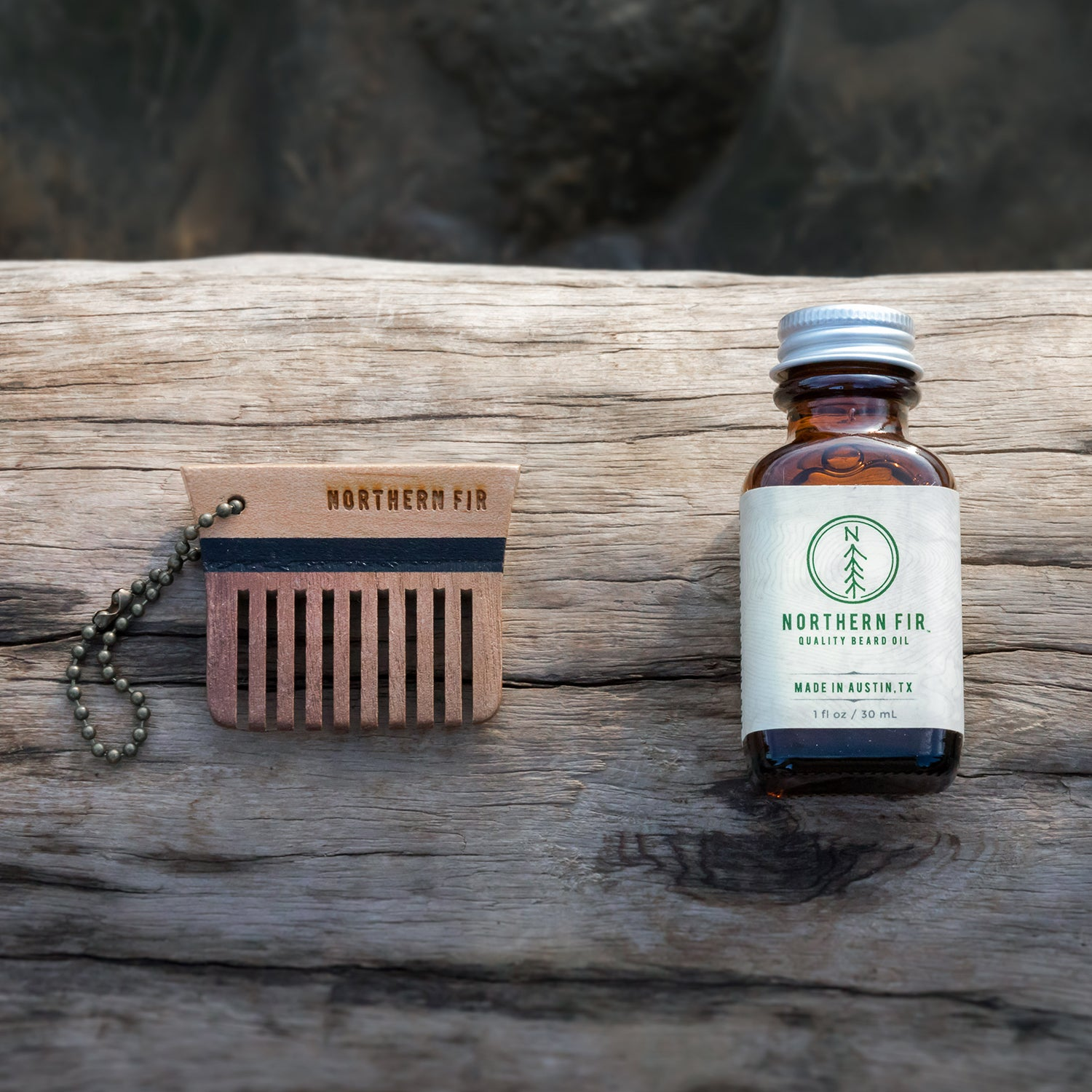 Beard Oil and Keychain Comb Set