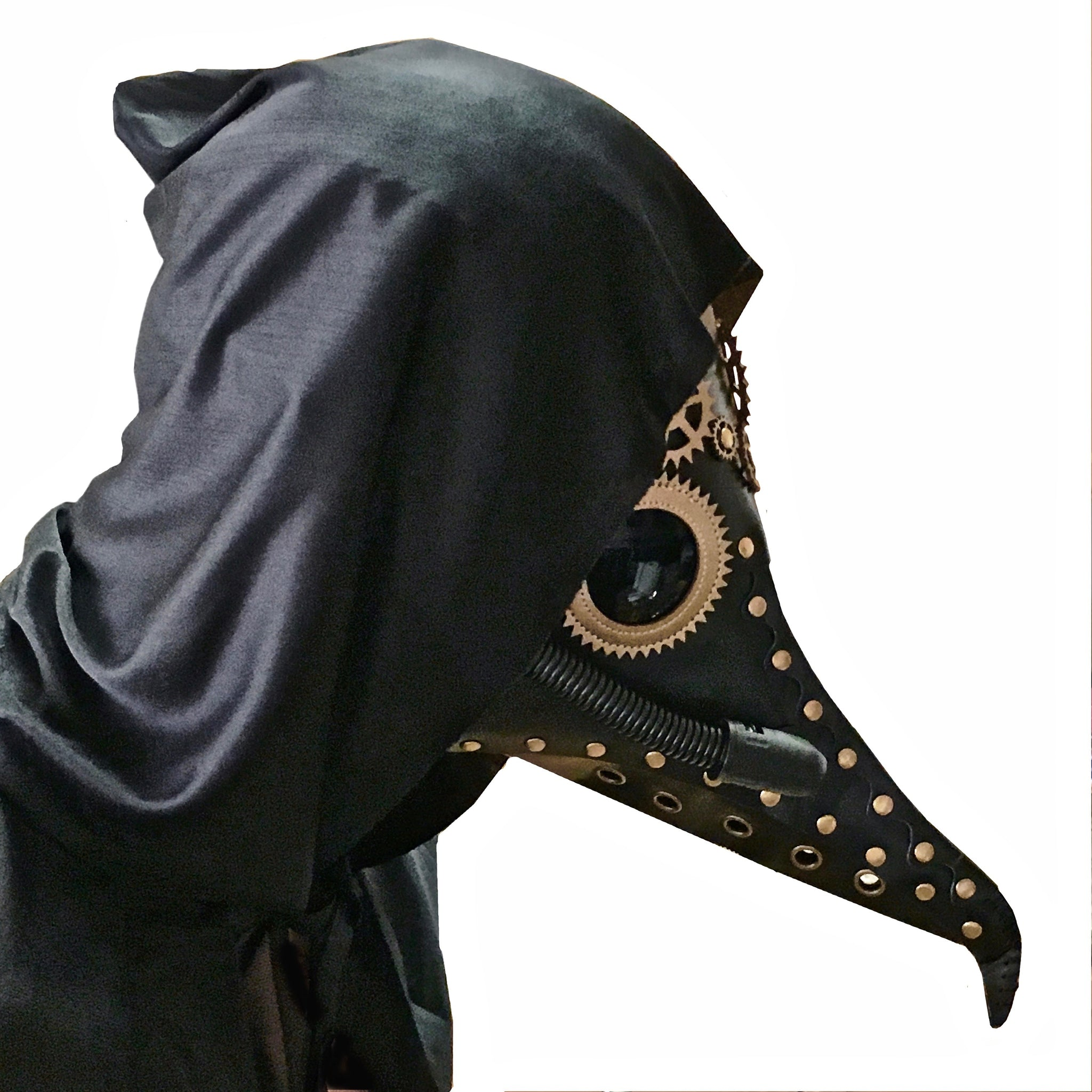 Day Of The Dead - Black Death Plague Doctor - Black/Gold
