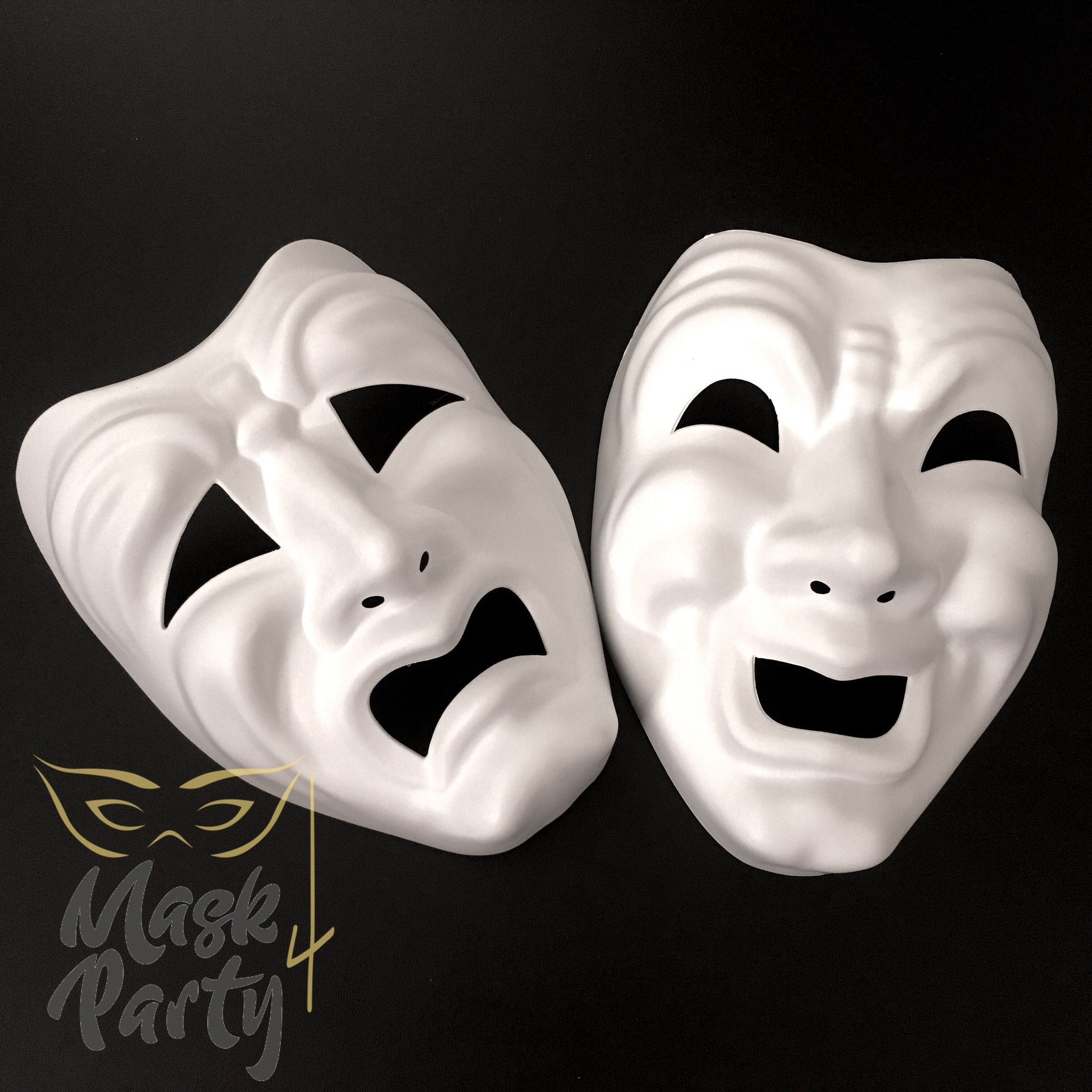 New - Diy - Masquerade -Tragedia/Commedia - White