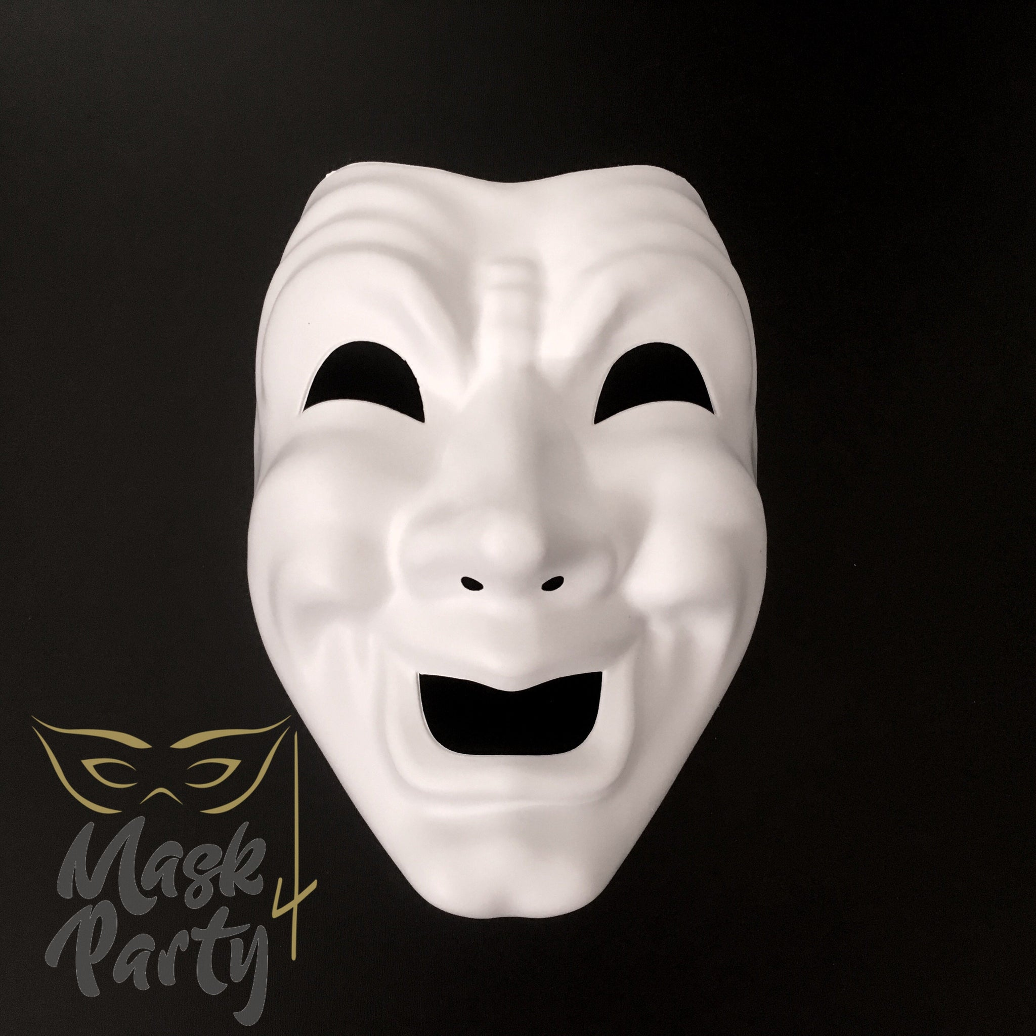New - Diy - Masquerade - Commedia - White