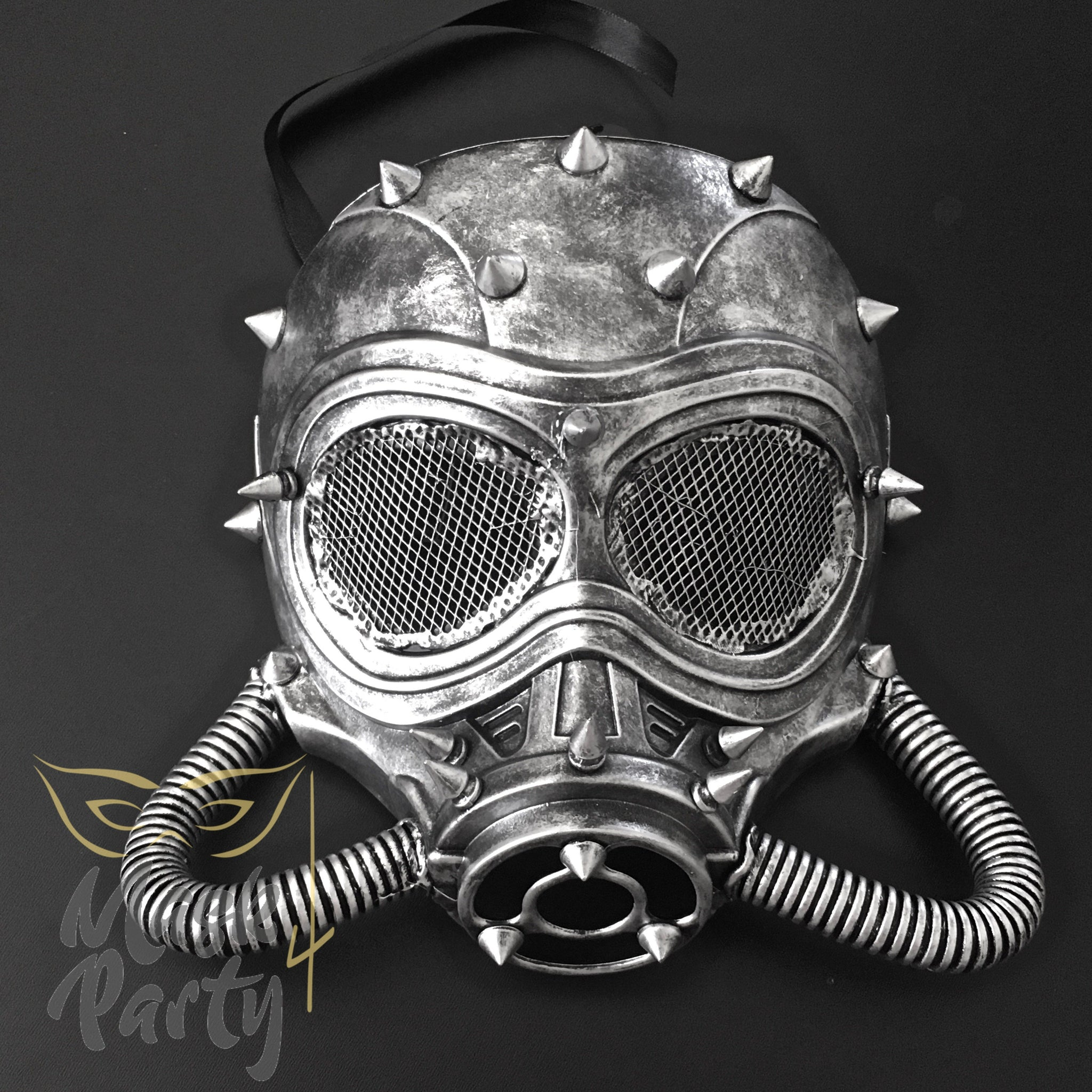 Steampunk - Rivet & Gas Tube - Black/Silver