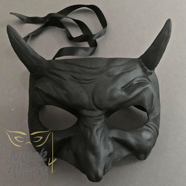 Day Of The Dead Mask - Devil Halloween - Black - Mask4Party