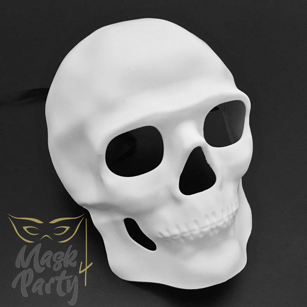 DIY - Day Of The Dead Mask - Full Face Skull - White - Mask4Party