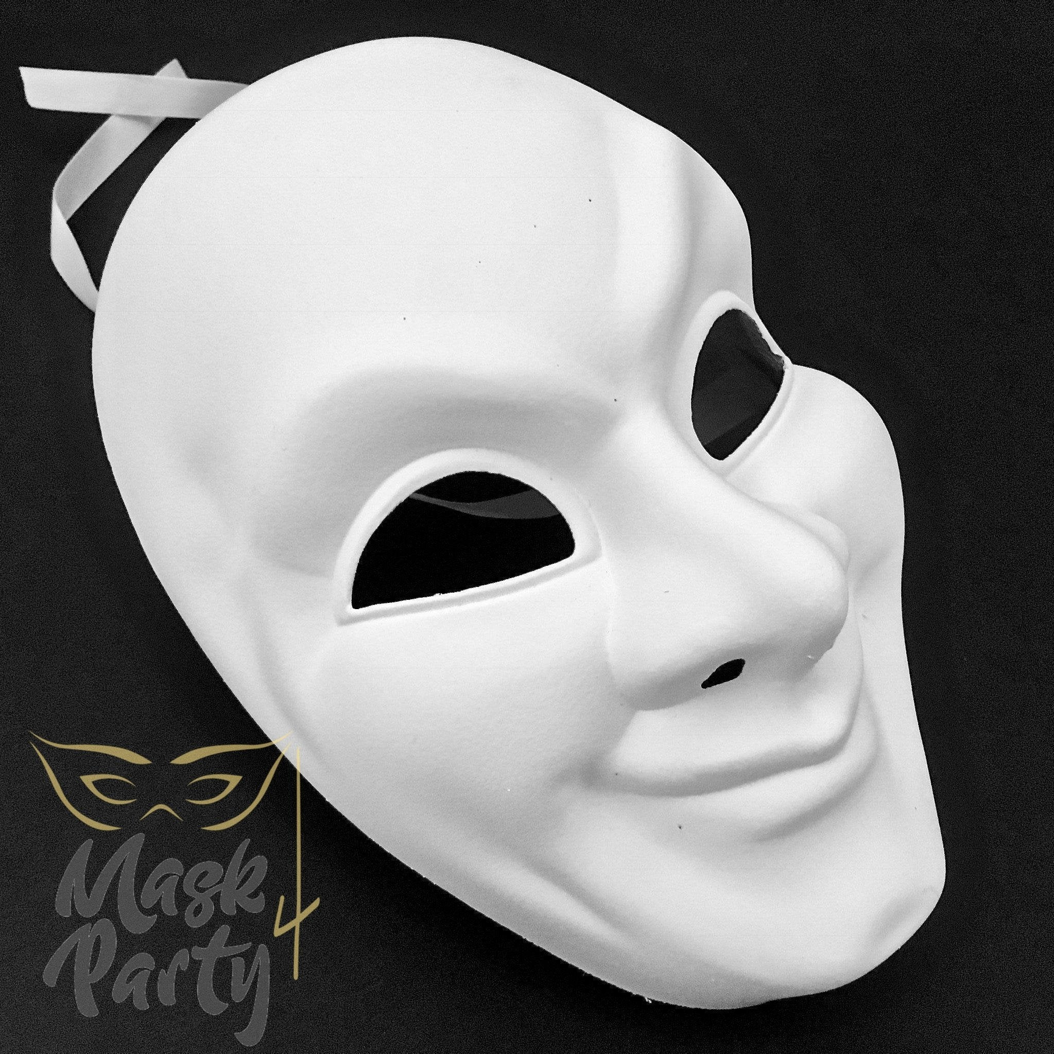 DIY - Day Of The Dead Mask - Full Face - White - Mask4Party