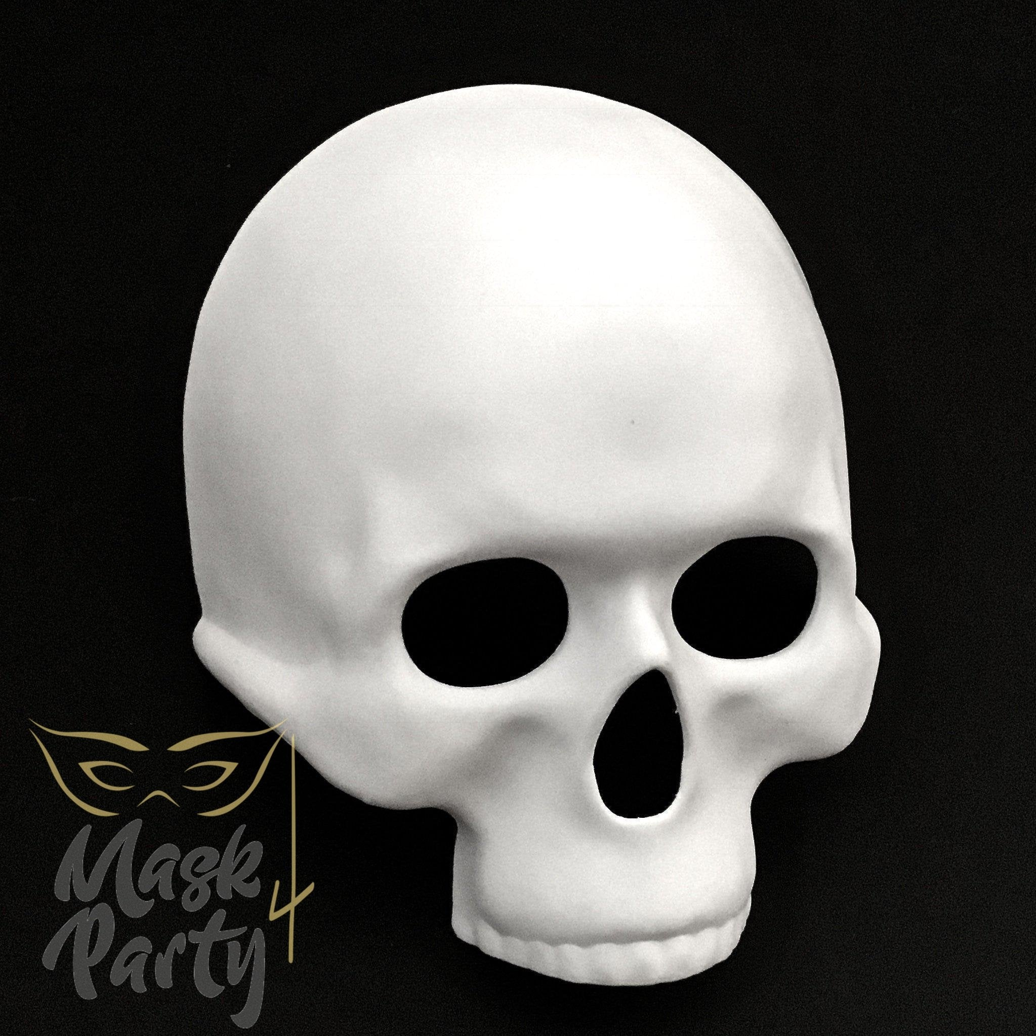 DIY Day The Dead Mask Half Face Skull White – Mask4Party