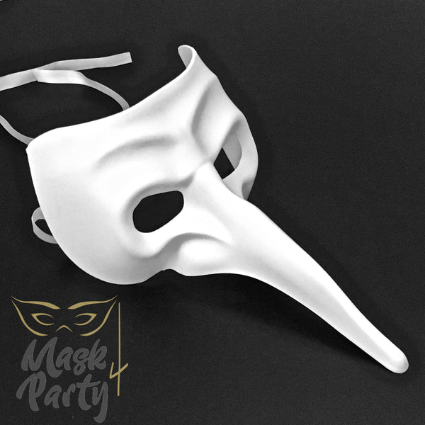 DIY - Day Of The Dead Mask - Long Nose - White - Mask4Party