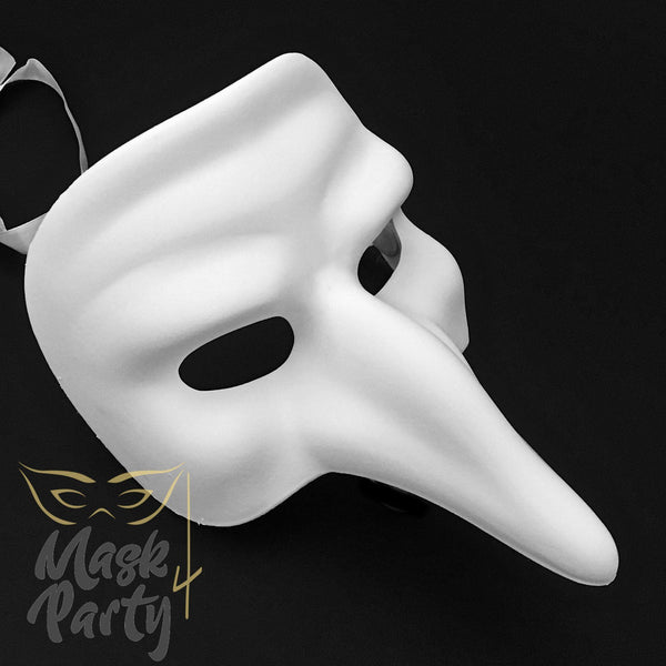 DIY - Day Of The Dead Mask - Short Nose - White - Mask4Party