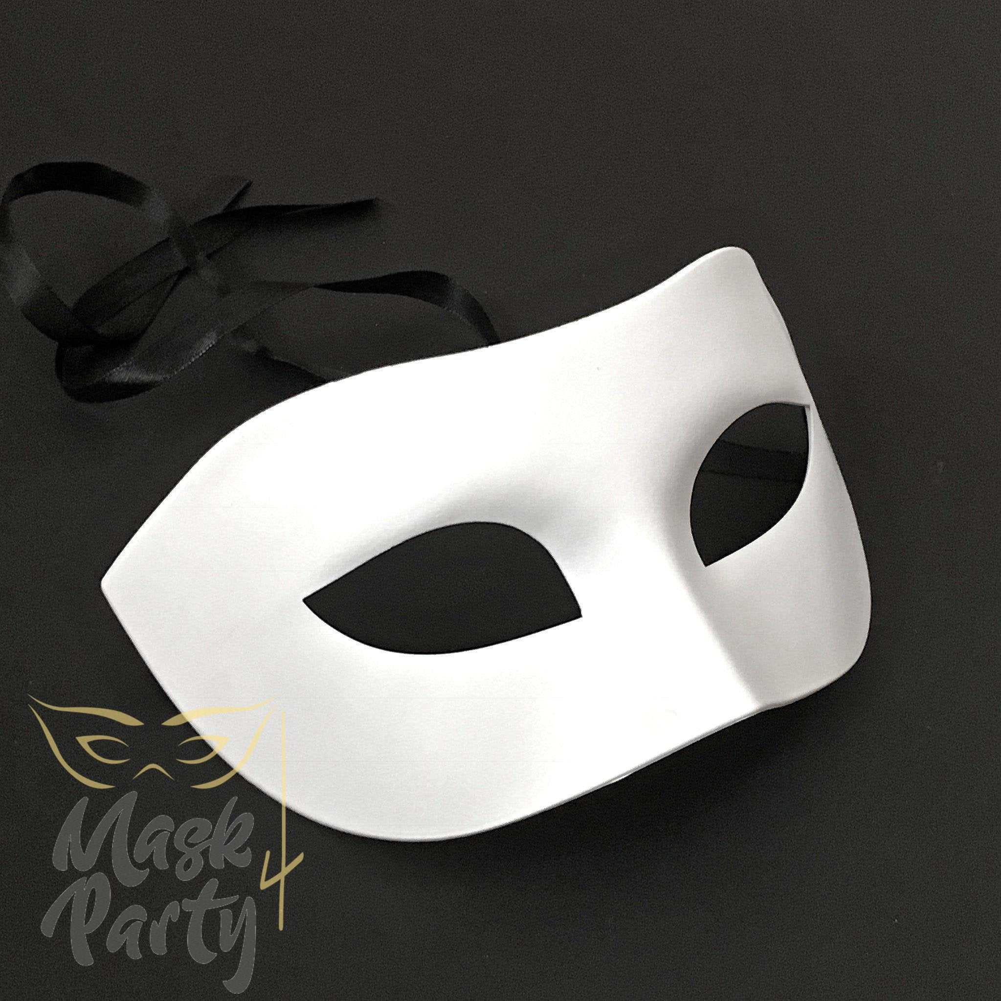 DIY - Masquerade Mask - Venetian Eye - White - Mask4Party