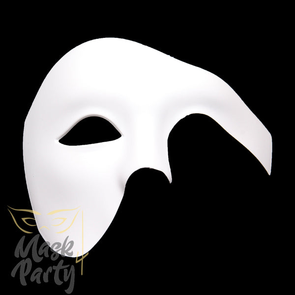 DIY - Masquerade Phantom Of The Opera - White - Mask4Party
