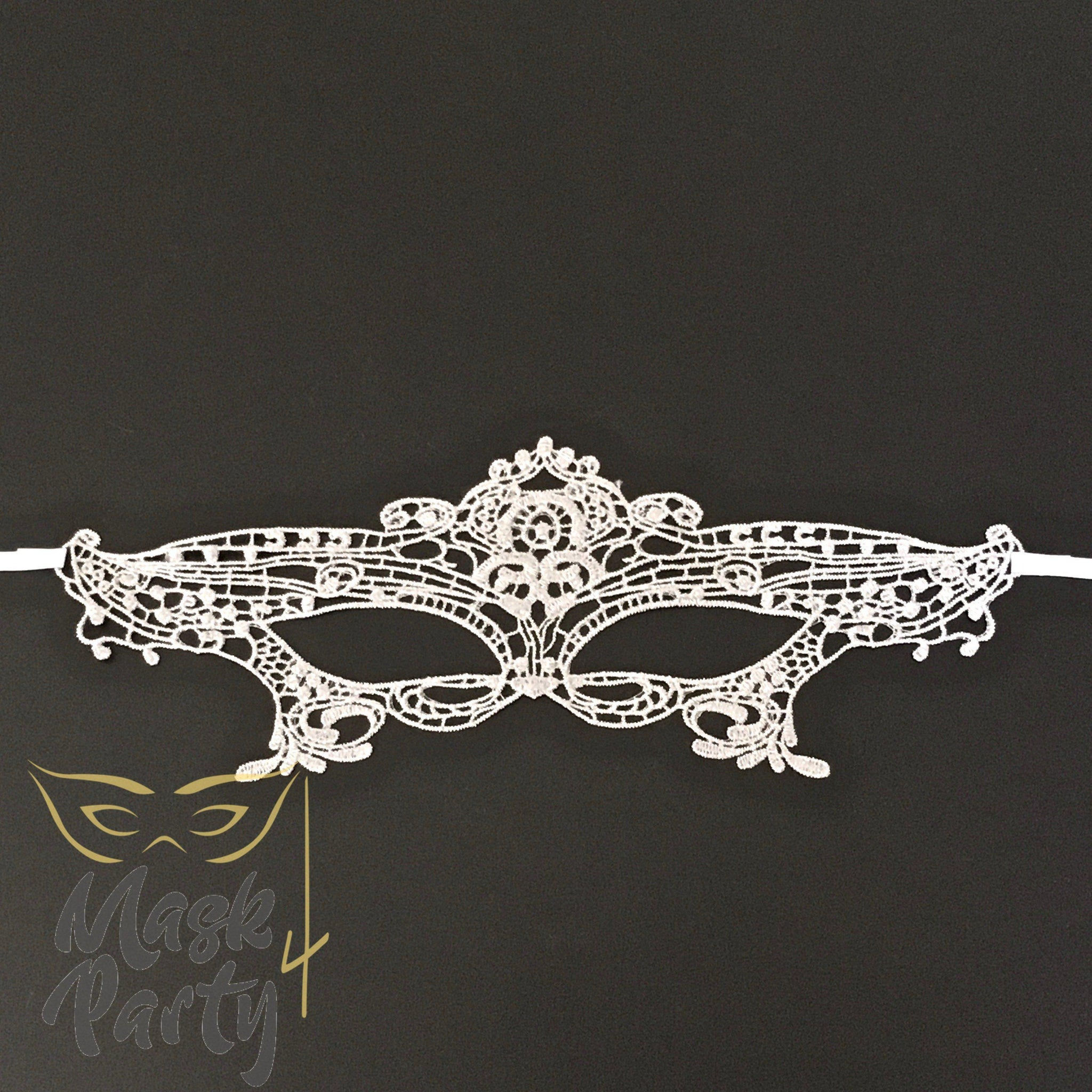 Masquerade Mask - Lace Mask - Silver - Mask4Party