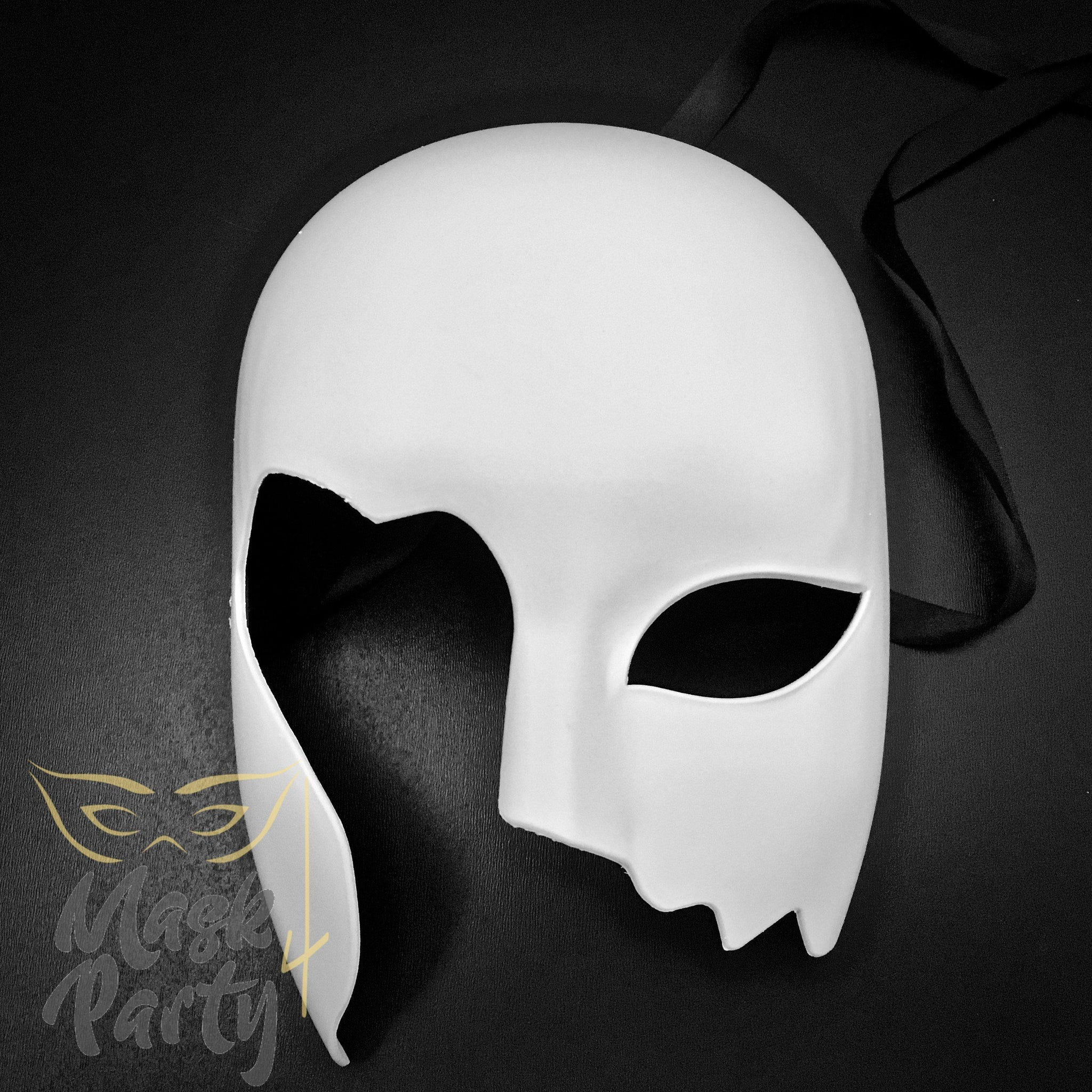 Masquerade Mask - Rome Combat Helmet - White - Mask4Party