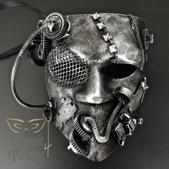 NEW - Steampunk Mask - Bautar Bevel Gear - Black/Silver - Mask4Party