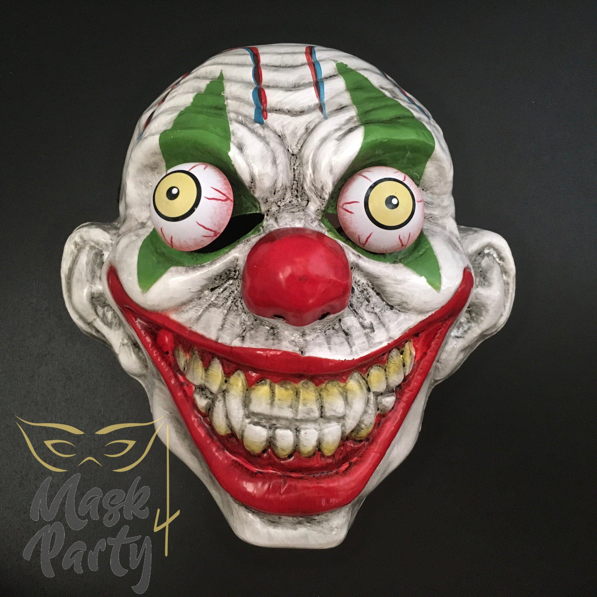 SALE - Day of the Dead Halloween Mask - Big Eyeballs - Clown - Mask4Party