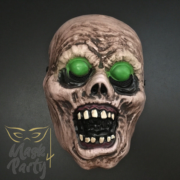 SALE - Day of the Dead Halloween Mask - Big Eyeballs - Zombie - Mask4Party