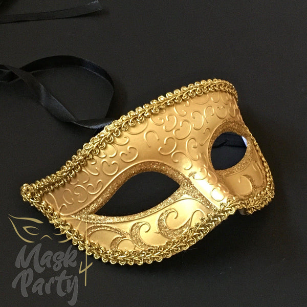 SALE - Masquerade Mask - Venetian Eye - Gold - Mask4Party