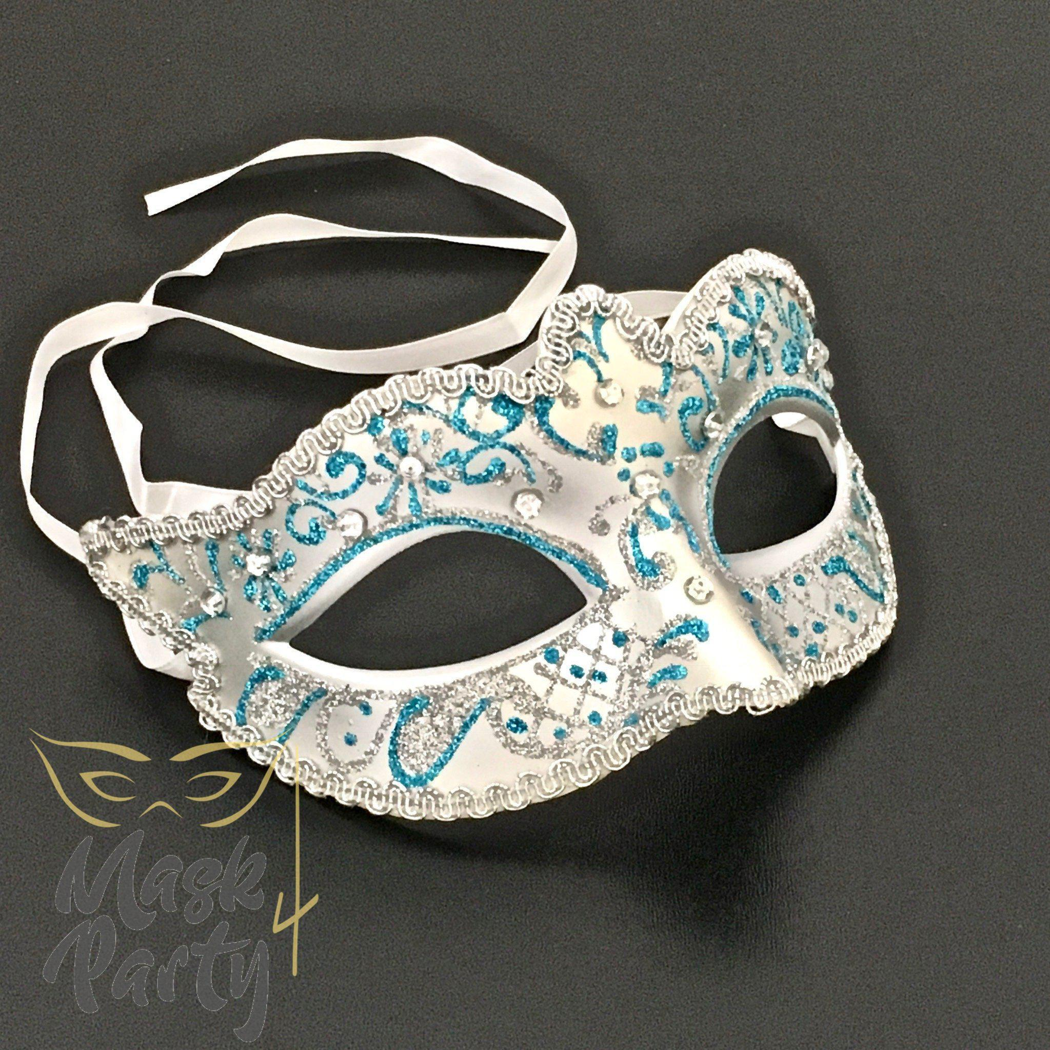 SALE - Masquerade Mask - Venetian Eye - Silver - Mask4Party