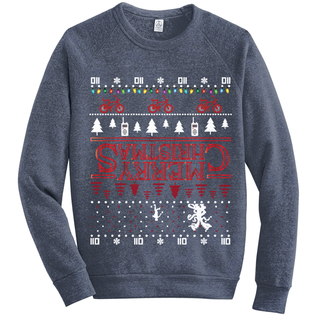 Stranger Things Ugly Christmas Sweater.Stranger Things Merry Christmas Upsidedown Ugly Christmas Sweater