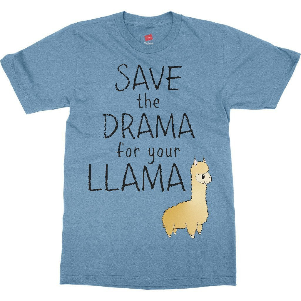 e142180f ... Funny Save the Drama for You Llama Mens Womens Youth Toddler Infant T- Shirt ...