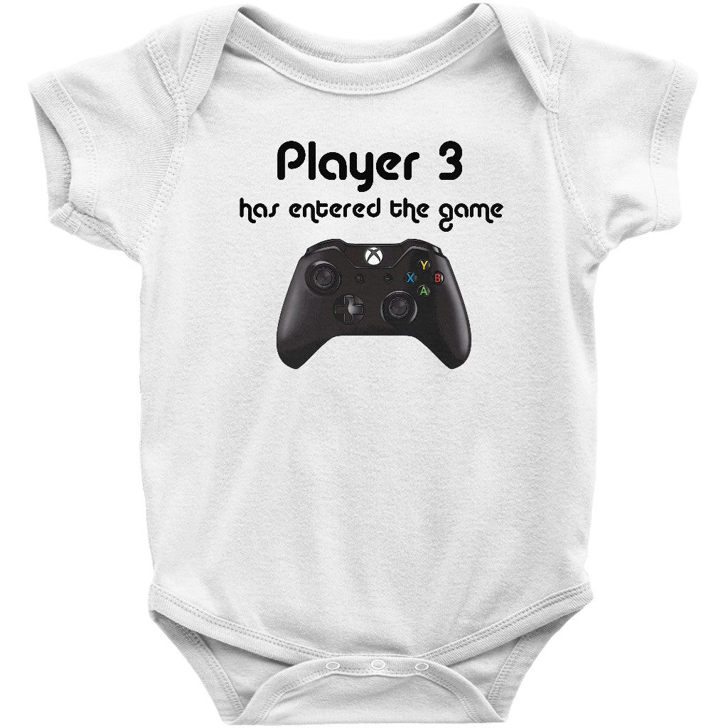 2ca6ea38d1d Cute Xbox Nintendo Daddy and Baby Player 3 Has Entered the Game  Onesie/Bodysuit, TShirt. Perfect for Father's Day!