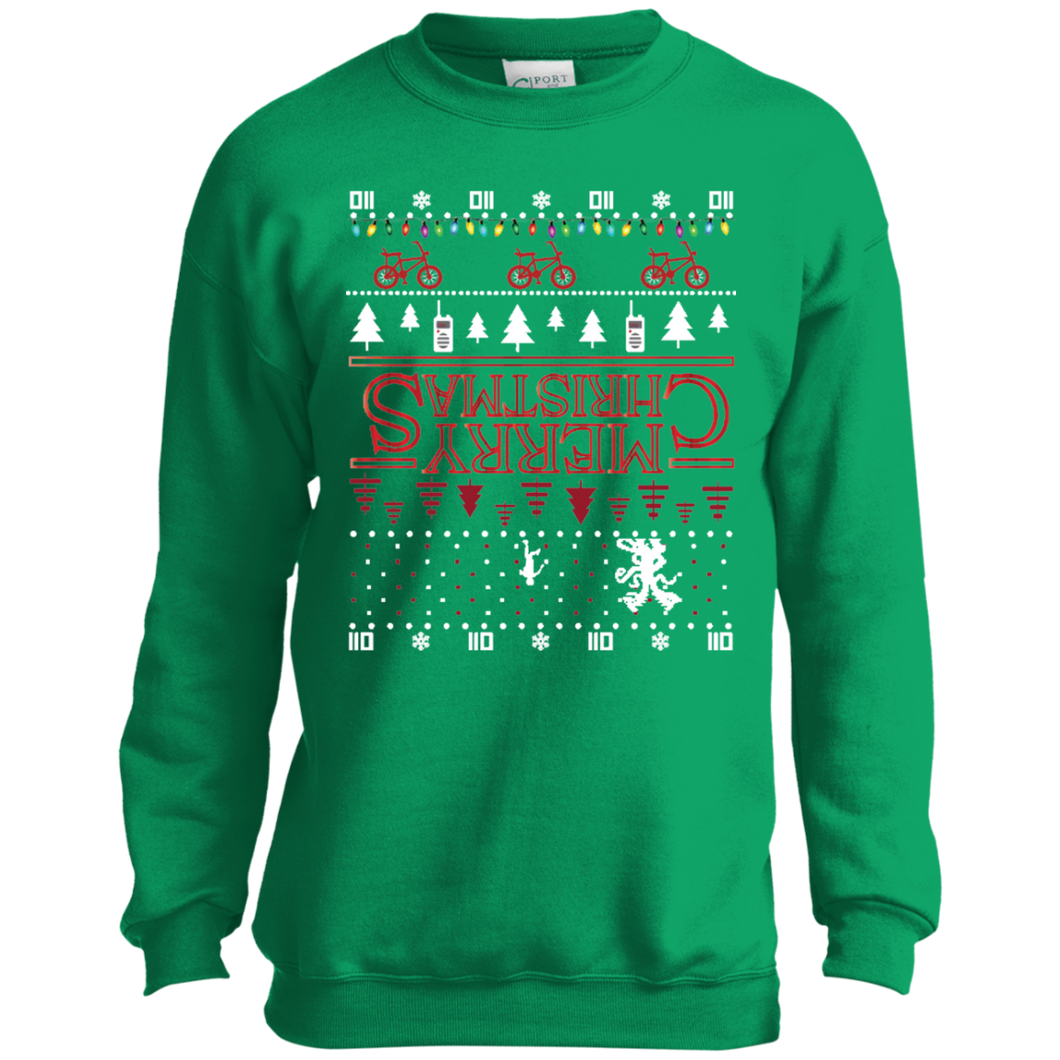 Stranger Things Ugly Christmas Sweater.Youth Stranger Things Merry Christmas Upsidedown Ugly