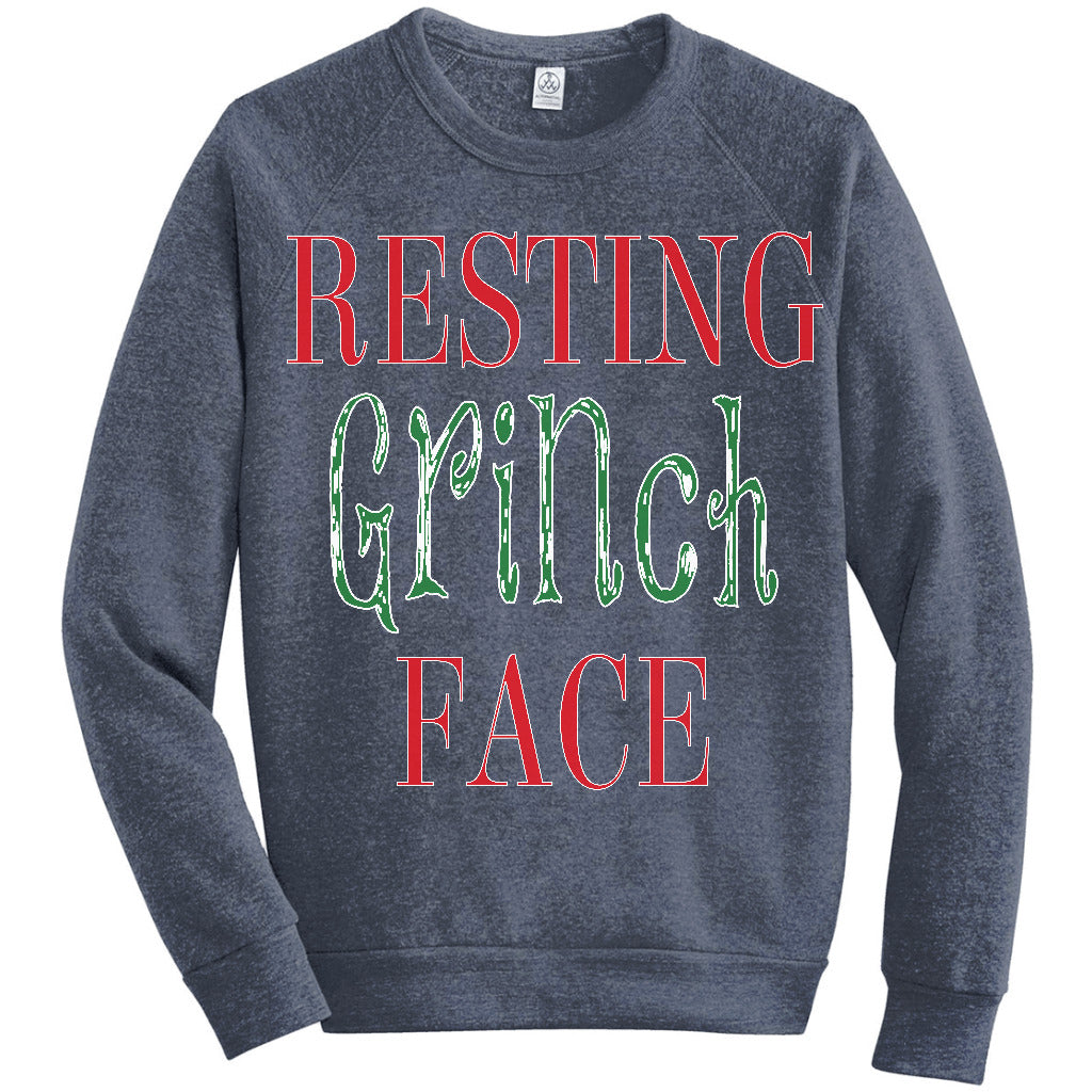 resting grinch face funny christmas t shirt holiday sweater