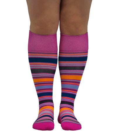 ATN Compression Knee High - Summer Stripe
