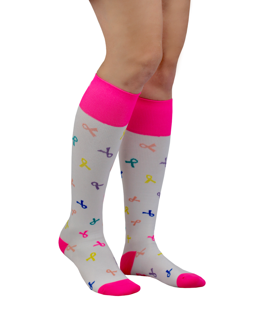 ATN Compression Knee High - Cancer Awareness