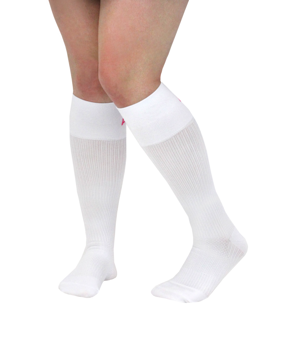 ATN Compression Knee High- Nurse's Graduate Student White