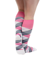 ATN Compression Knee High Mens - Pink Check