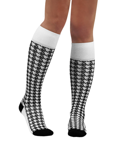 ATN Compression Knee High - Houndstooth
