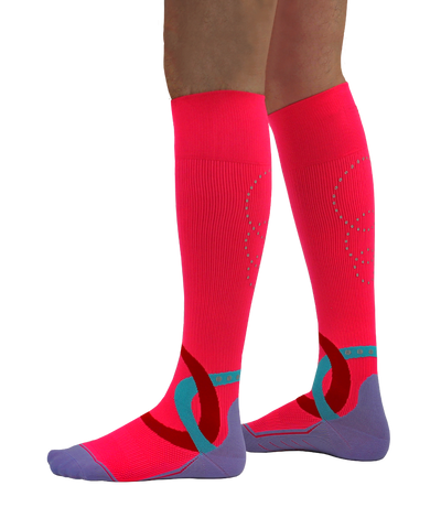 SportsEdge Socks - Power Pink - Men's