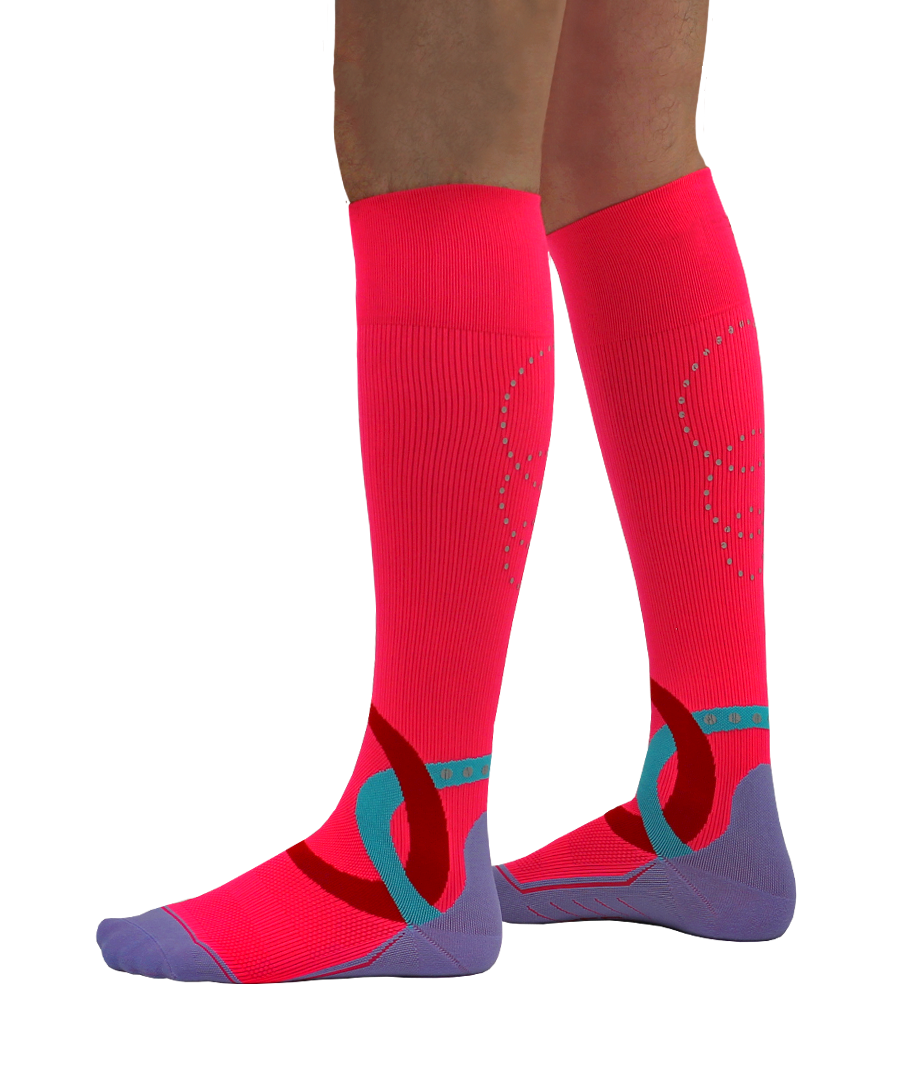 ATN SportsEdge Socks - Power Pink - Men's