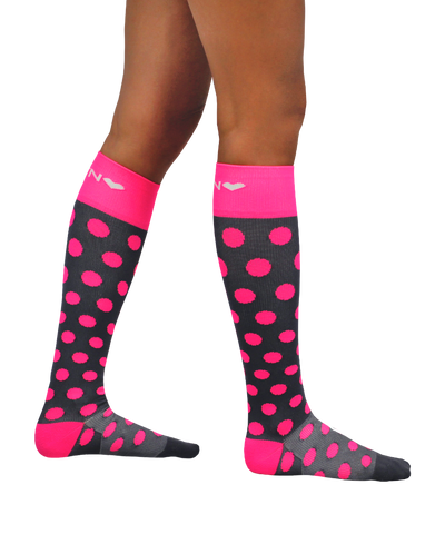 ATN Compression Knee High - Polka Pink