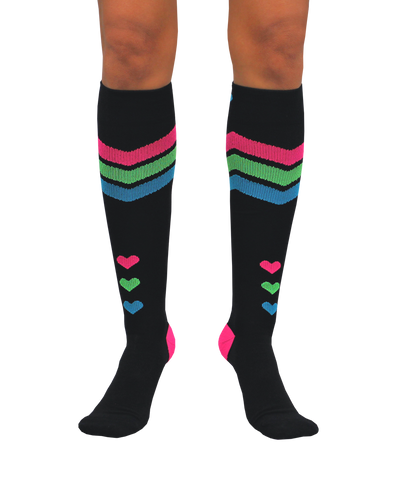 ATN Compression Knee High - Queen of Hearts