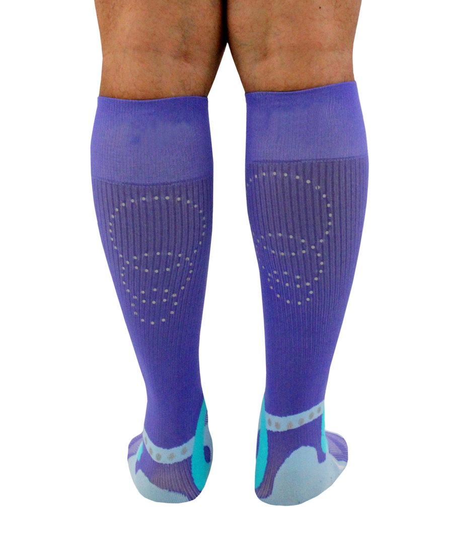 ATN SportsEdge Socks - Performance Purple - Men's
