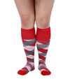 ATN Compression Knee High - Red Argyle