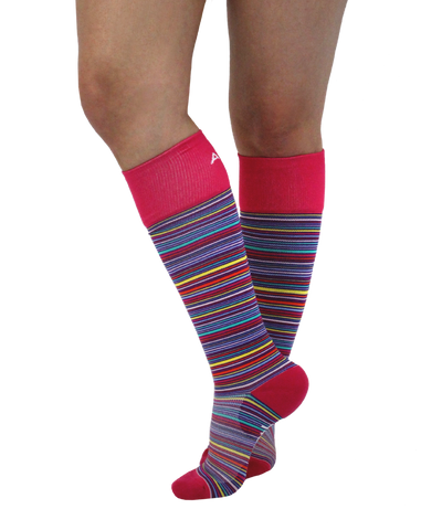 ATN Compression Knee High - Berry Stripe